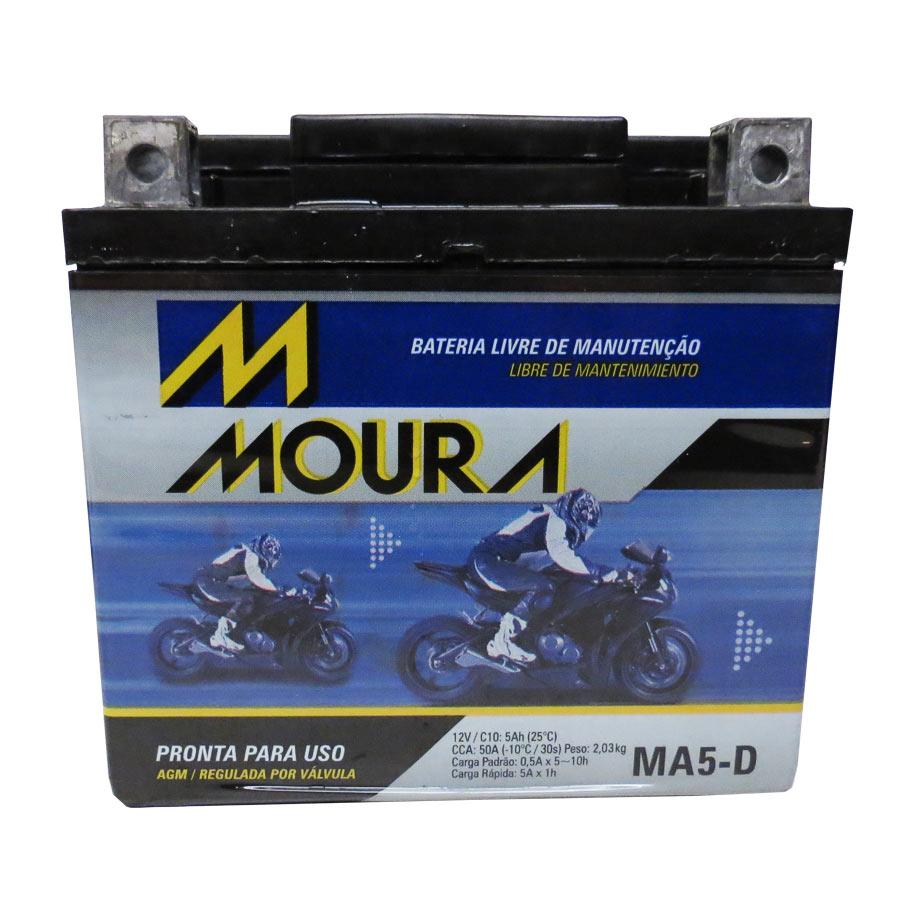 Bateria Ma5-d Moura 5ah Honda Crf 230 Yamaha Tt-r 230 E