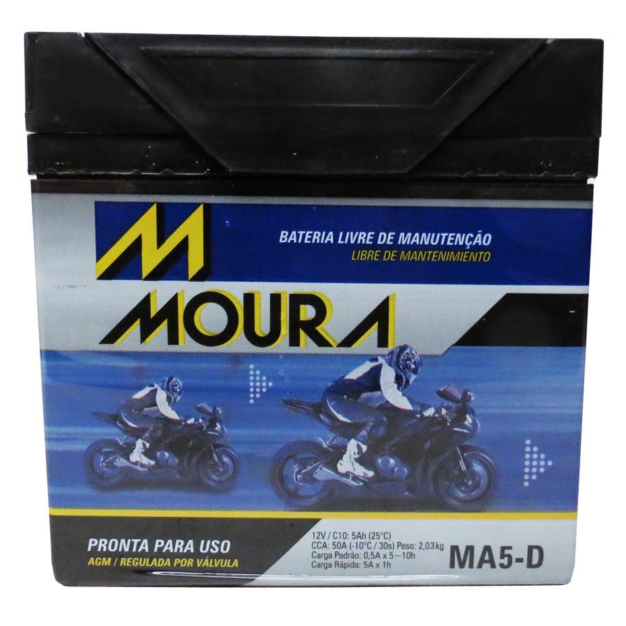 Bateria Ma5-d Moura 5ah Honda Nxr 160 Bros 2015/2015