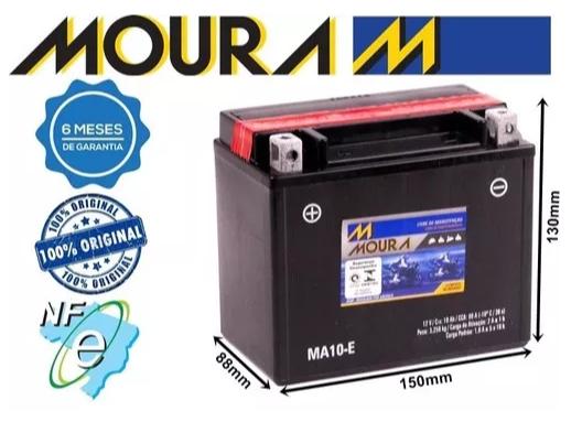 Bateria Moura MA10-E Kawasaki 600 cc ZZR 600 2002 - 2004