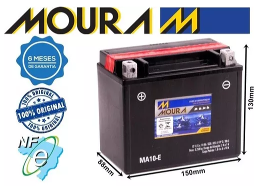 Bateria Moura MA10-E Kawasaki 750 cc ZR-7, S 2003