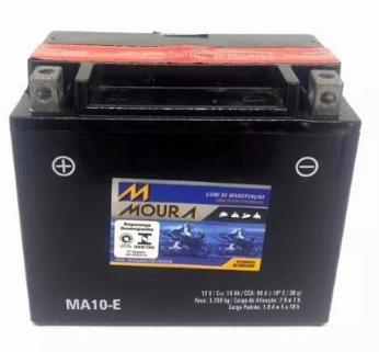 Bateria Moura MA10-E Kawasaki 800 cc VN 800-A, B, C, E Vulcan, Classic, Drifter 2004 - 2006