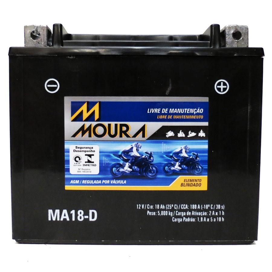 Bateria Moura Ma18-D Honda Gl1800 Gold Wing 01/08 - Ytx20l-bs