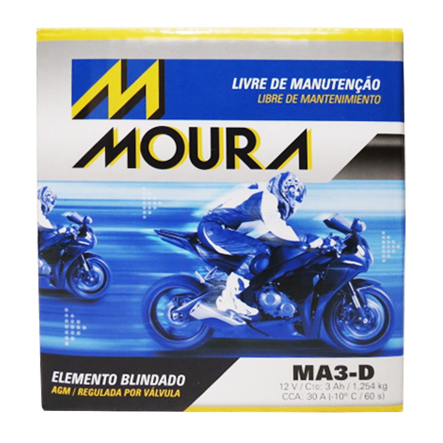 Bateria Moura Ma3-d Shineray