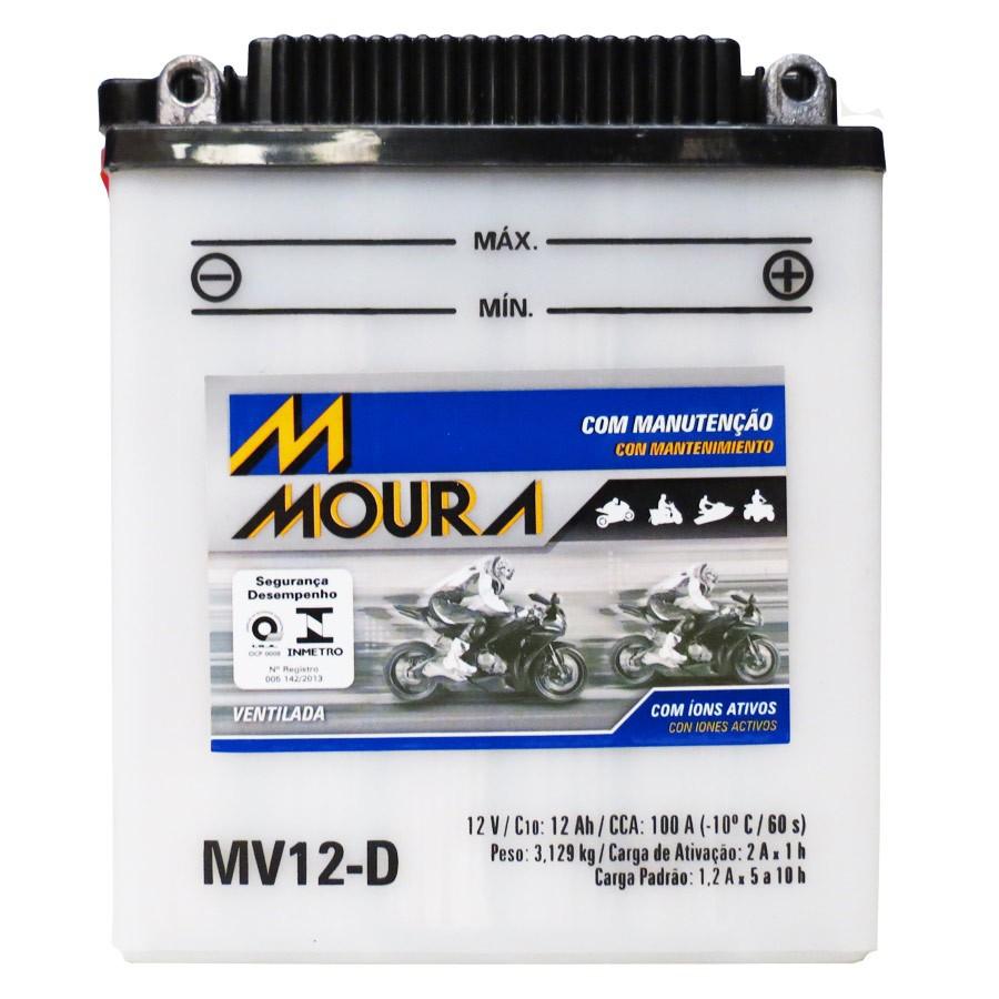 Bateria Moura Mv12-d 12 Volts 12 Amperes Ventilada