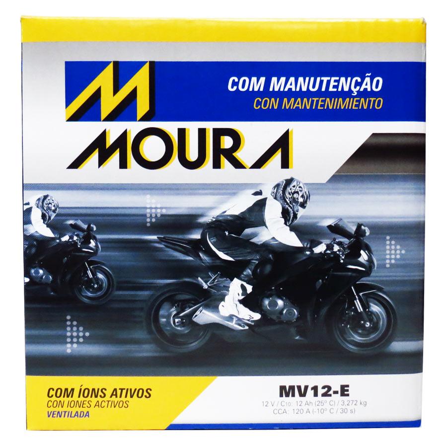 Bateria Moura Mv12-e 12 Volts 12 Amperes Ventilada
