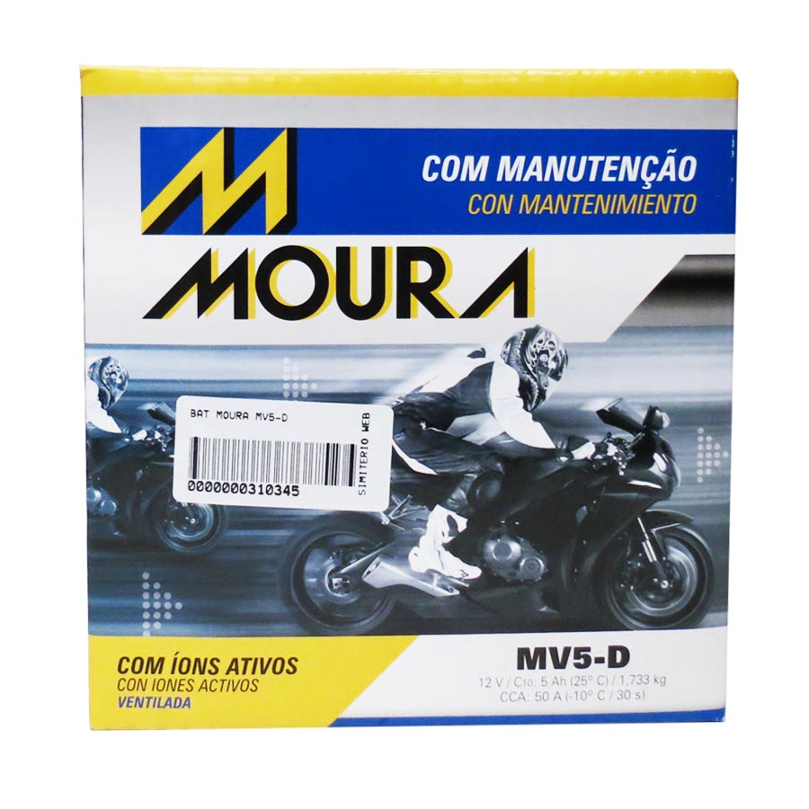 Bateria Moura Mv5-D 12 Volts 5 Amperes Ventilada