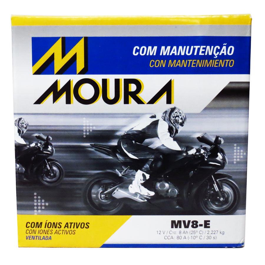 Bateria Moura Mv8-e 12 Volts 8 Amperes Ventilada