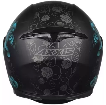 Capacete AXXIS EAGLE FLOWERS Azul T58