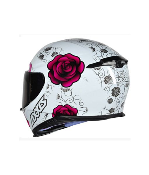 Capacete Axxis Eagle Flowers Branco/rosa Rs1
