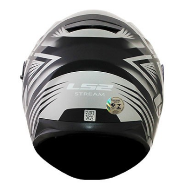CAPACETE LS2 FF320 STREAM BANG MAT BLK TITANIUM 58