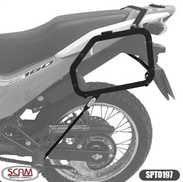 Honda Bros160 2015+ Spto197 Scam Suporte Baú Lateral