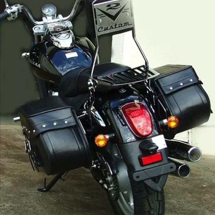 Kit Alforge Grande Couro Completo Shadow 750 V2 Custom