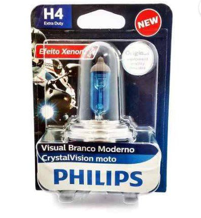 LAMPADA FAROL XENON CRYSTAL VISON H4