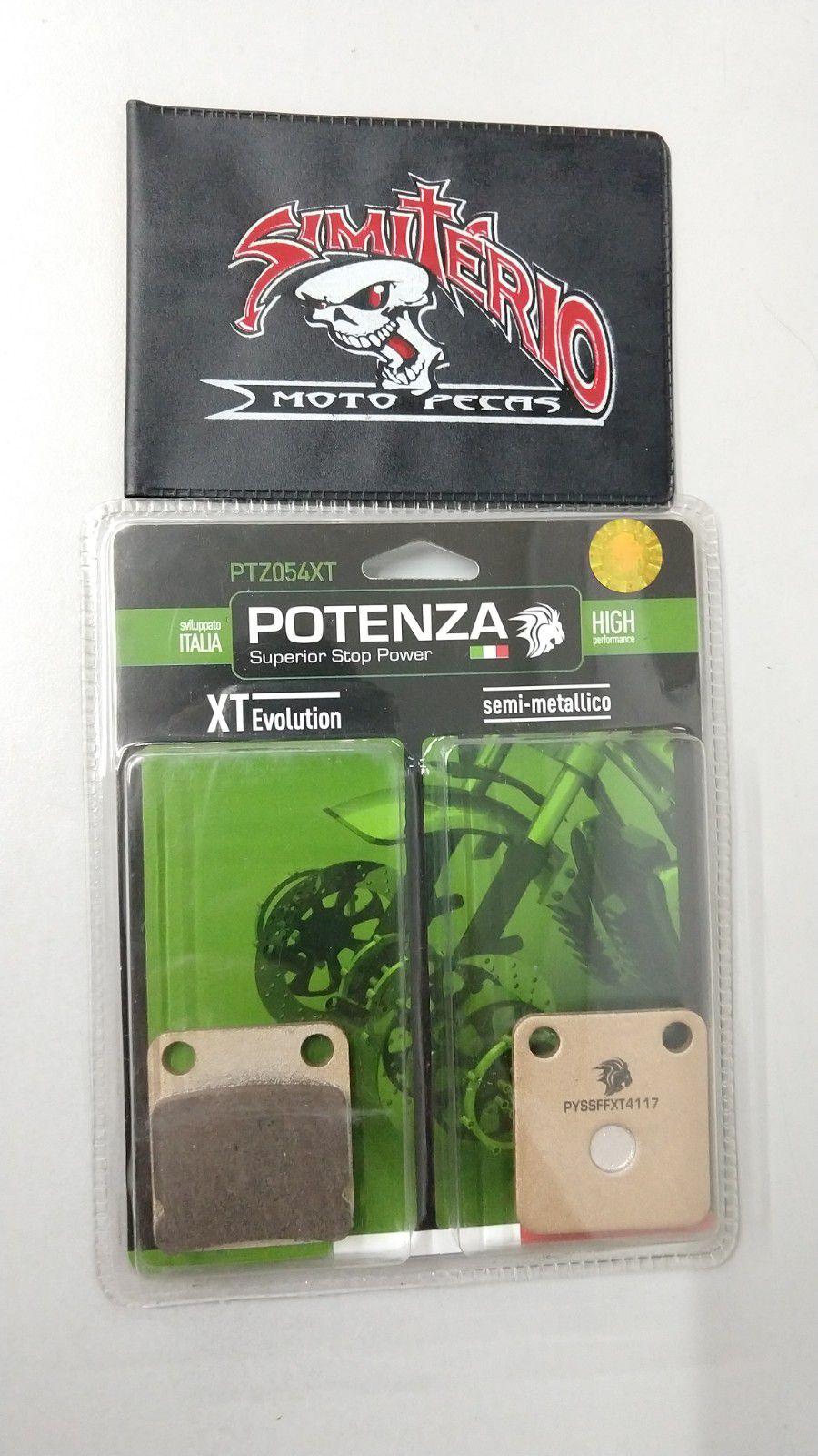 PASTILHA POTENZA FREIO DIANTEIRA HONDA CG 125 TITAN ES 2000/2004