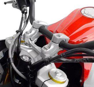 Riser Adapt Guidao Cg125/150 2009-2013 Scam Spta271 Prata