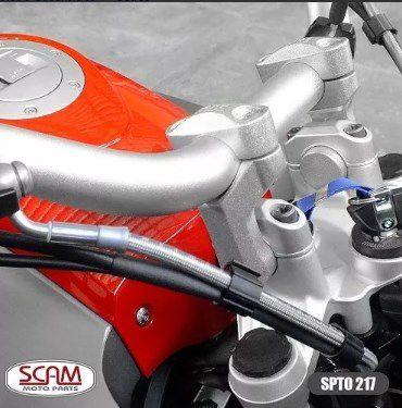 Riser Adaptador Guidao R1200gs 2013+ Spta217 Scam Prata