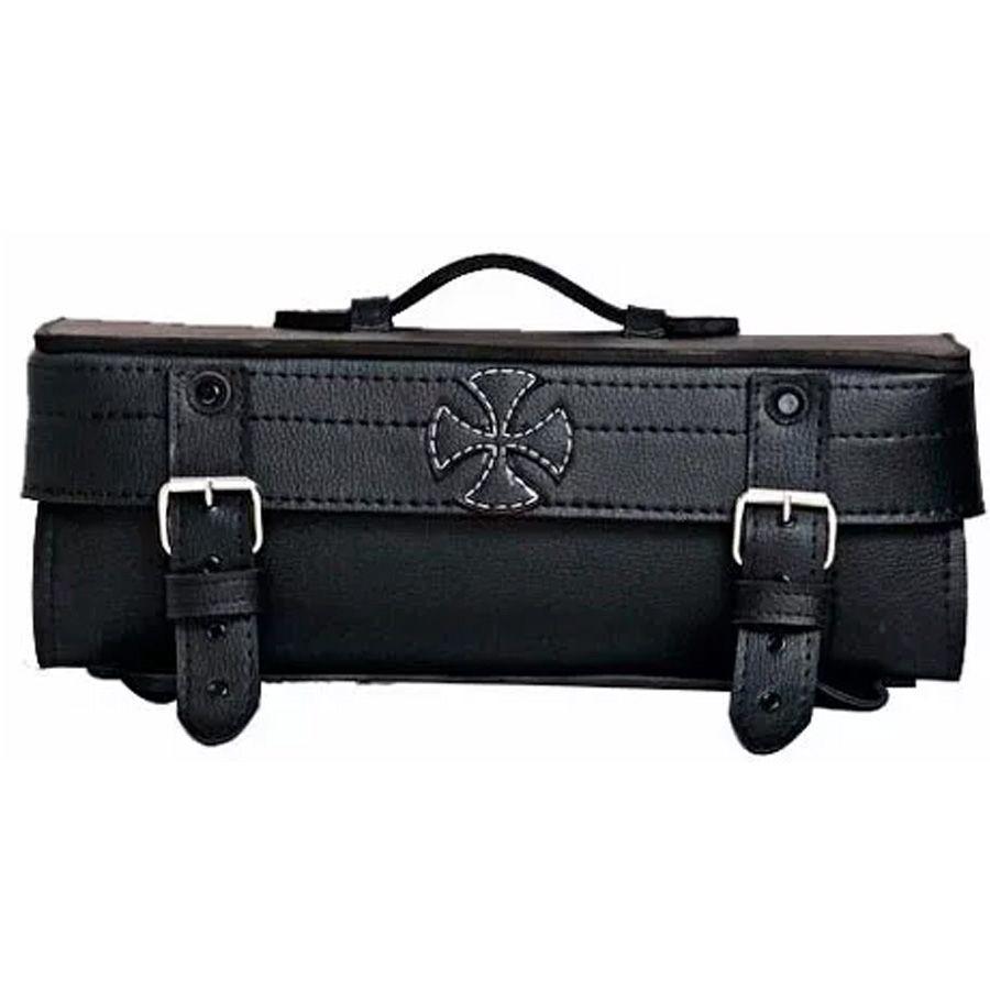 Sissy Bag Traseiro Mala Couro Cruz de Malta V2 Custom 65L