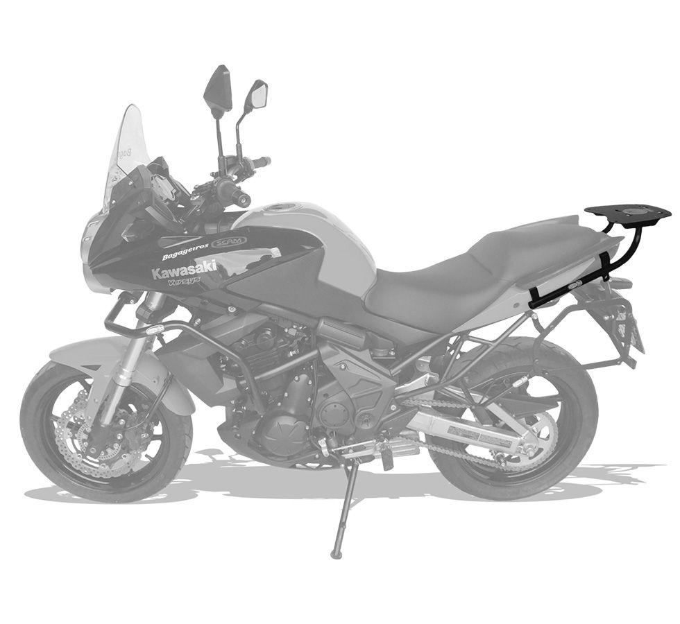 Suporte De Baú Superior Scam  Kawasaki Versys 650 Modelos 2010 Até 2014.
