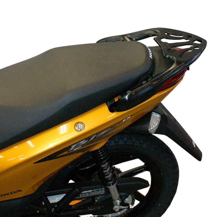 Suporte Do Baú Superior Bagageiro Scam Em Liga Leve Honda Biz 100 / 110 / 125 Modelos 2011 Em Diante