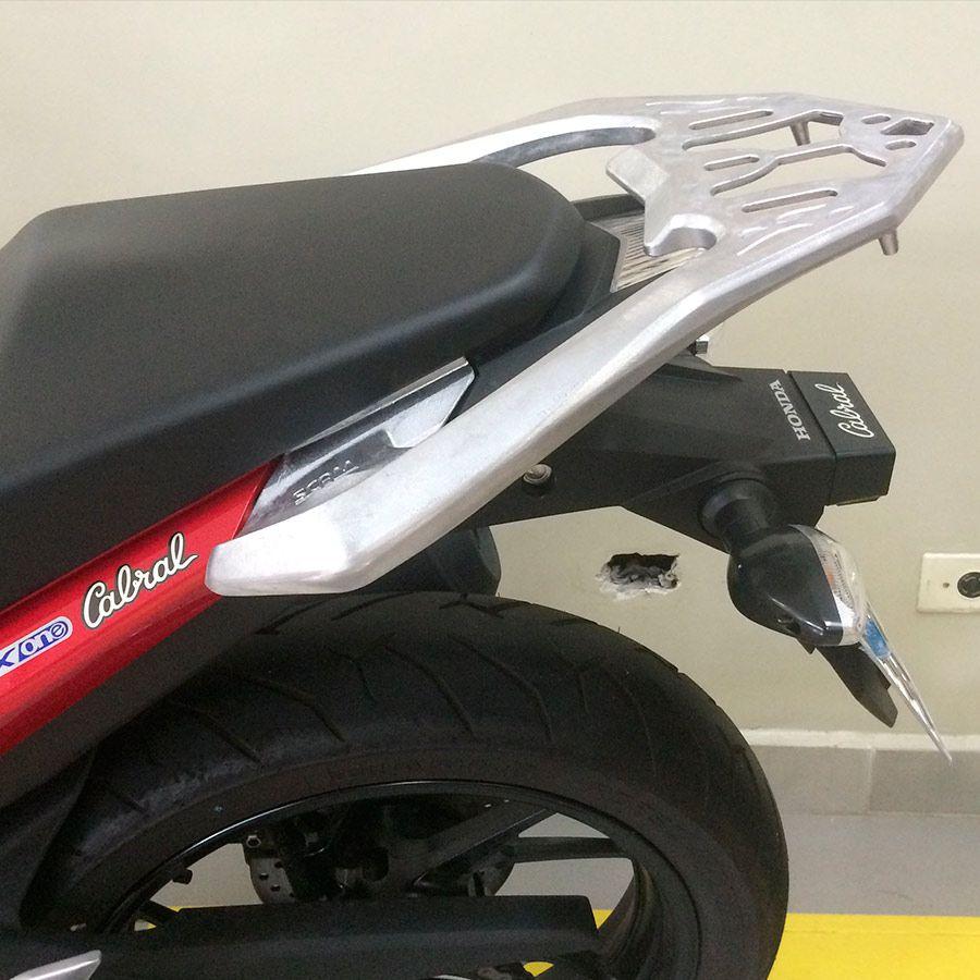 Suporte Do Baú Superior Bagageiro Scam Em Liga Leve  Honda CB TWISTER Modelos 2016 Em Diante