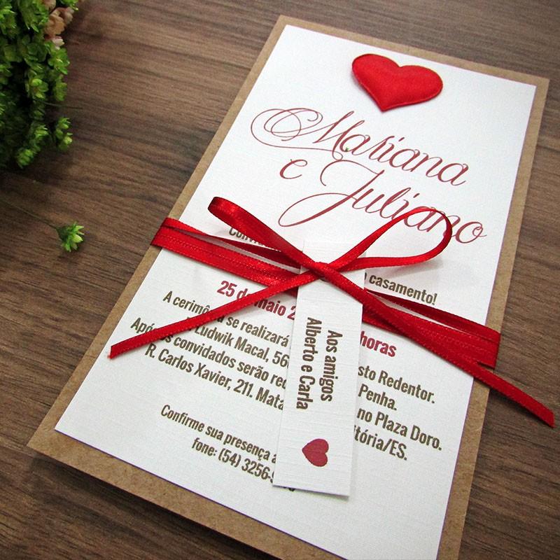 Convite Casamento Aconchego
