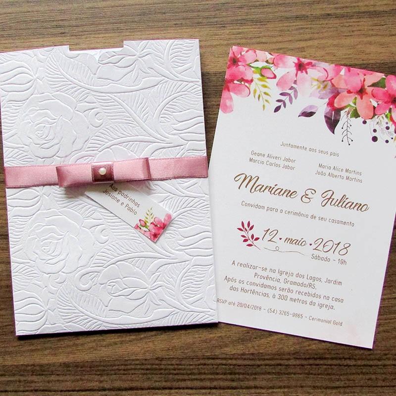 Convite Casamento Aquarelado Pintura
