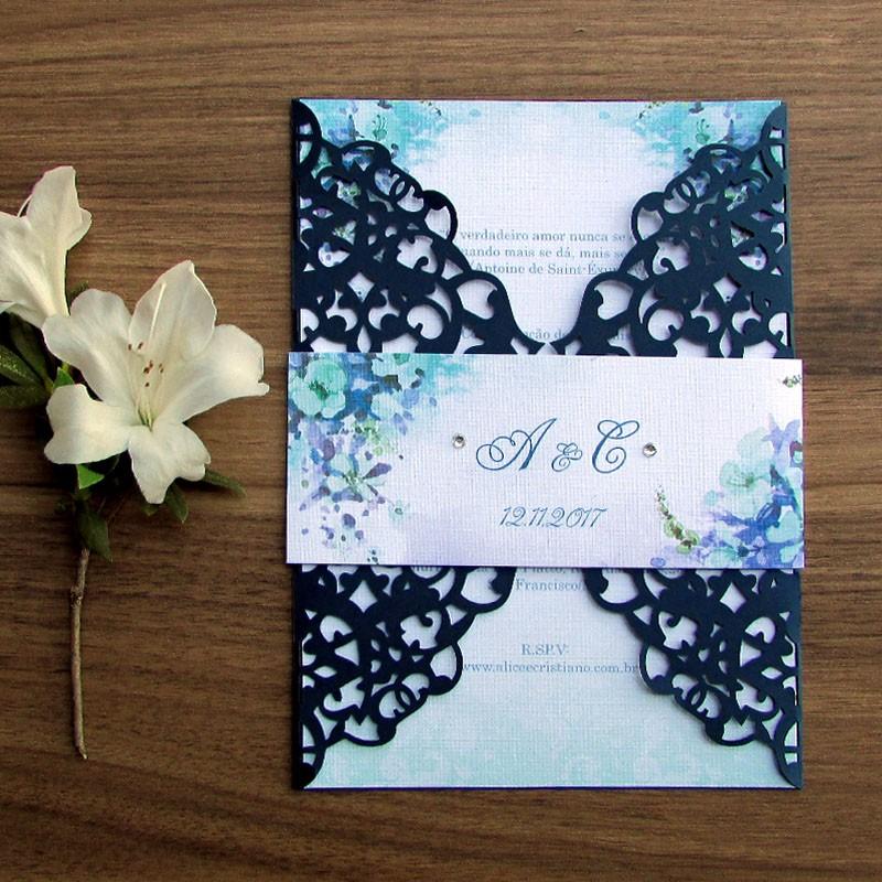 Convite Casamento Blue