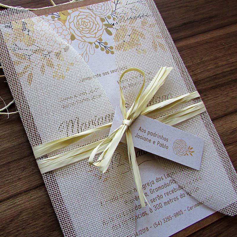 Convite Casamento Caramelo