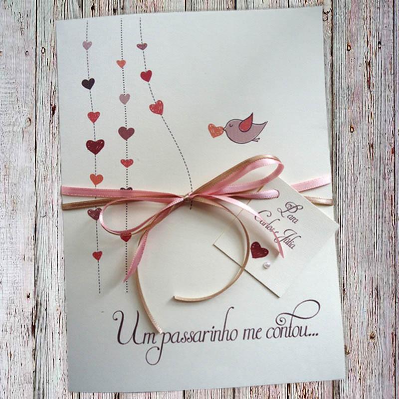 Convite Casamento Carinho
