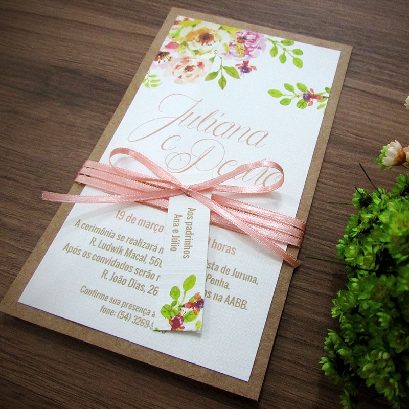Convite Casamento Harmonia