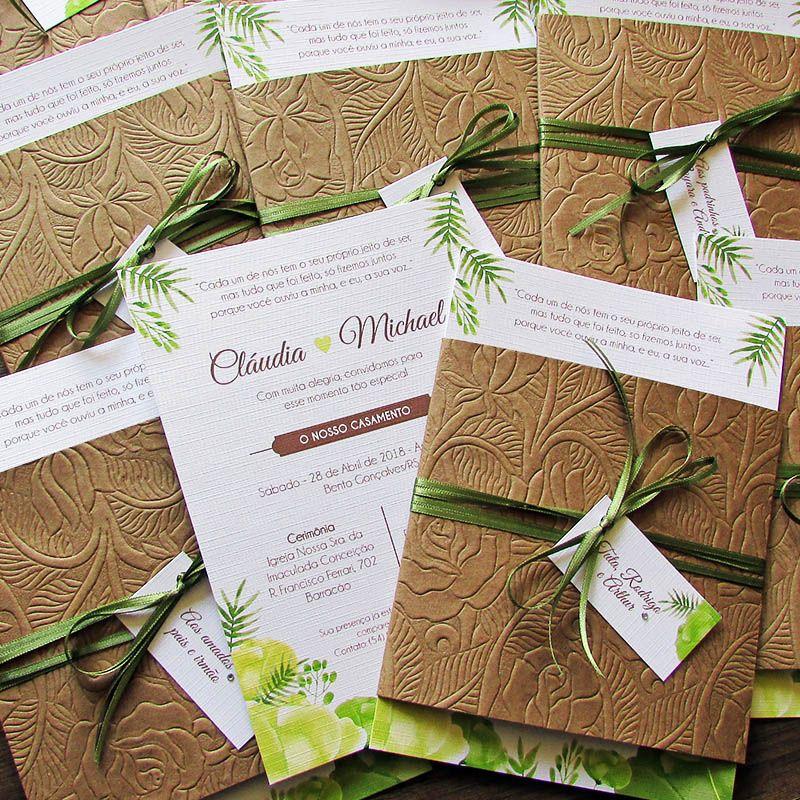 Convite Casamento Oliva