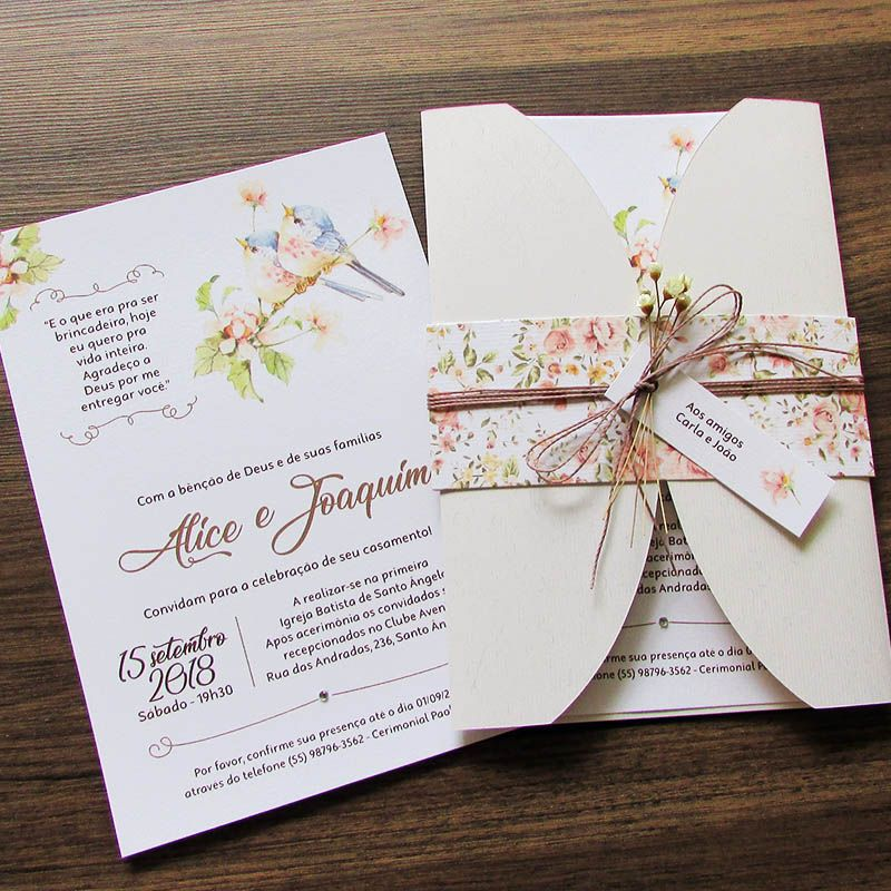 Convite Casamento Poesia