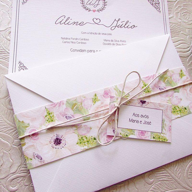 Convite Casamento Sintonia
