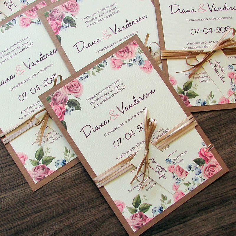 Convite Casamento Sublime Chic