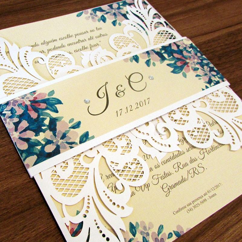 Convite Casamento Toque de luxo