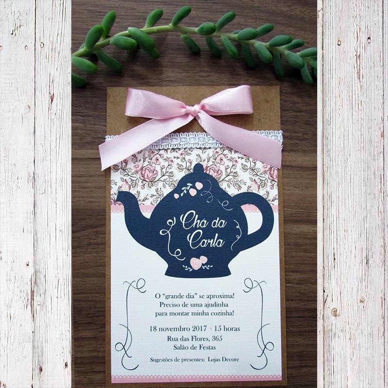 Convite chá de panela Romance