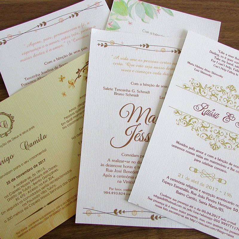 Convite impresso + arte personalizada