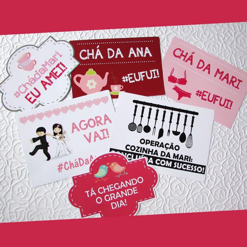 13b608f19e790e Kit 10 Plaquinhas chá panela e lingerie