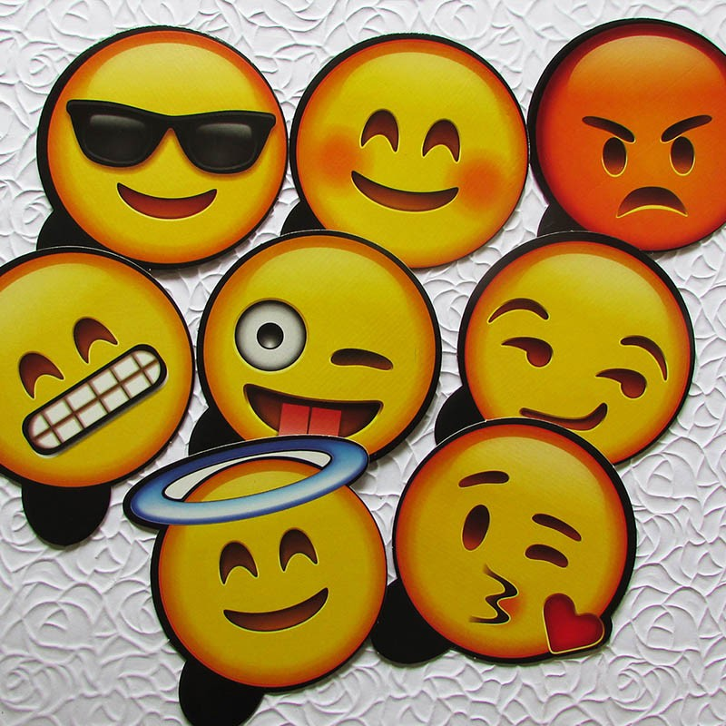 Kit Placas Emoji Carinhas