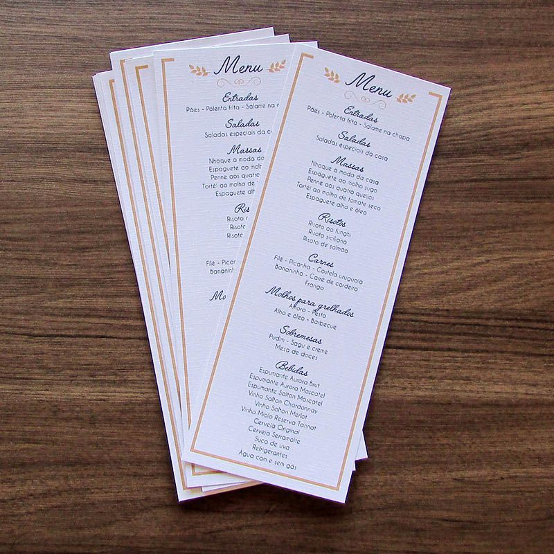 Menu vertical