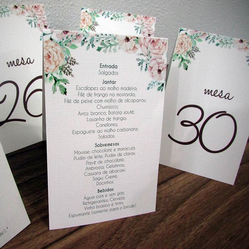 Numeração com menu