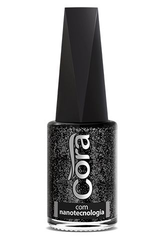 Esmalte Cora 9ml Top Glitter Noite Estrelada