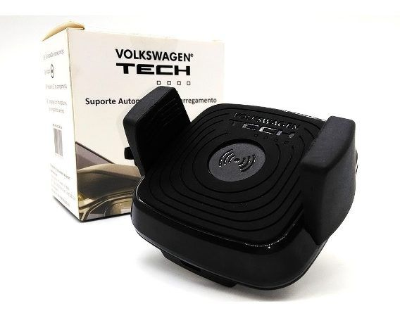 Suporte Carregador Indução Wireless Original Vw + Tapete T Cross Carpete