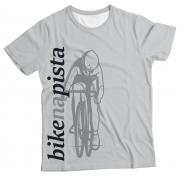 Camiseta Adulto Bike na Pista Branco MC