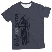 Camiseta Adulto Bike na pista Cinza MC