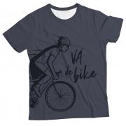 Camiseta Adulto Vá de Bike Cinza MC