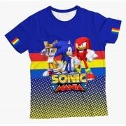 Camiseta Infantil Sonic e Amigos Azul MC