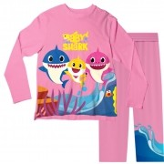 Pijama Infantil Baby Shark Rosa PJML
