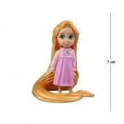 Action Figure Princesas Enrolados Rapunzel 7CM PVC Base Vermelha