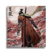 Placa Decorativa MDF Sekiro Shadows Die Twice 20x20cm